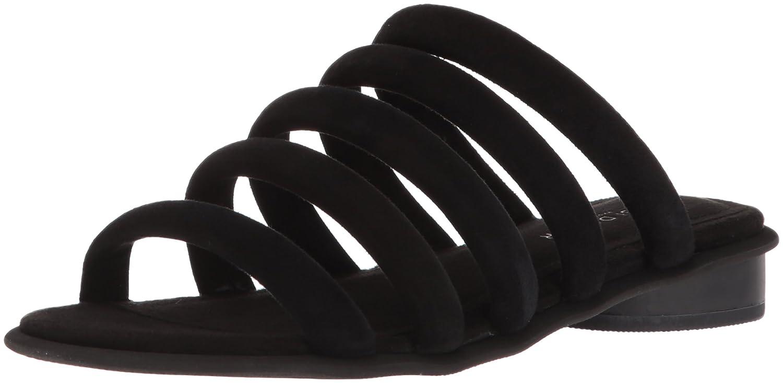 Kelsi Dagger Brooklyn Women's Saga Flat Sandal B076XRRKF7 6 B(M) US|Black
