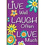 Toland Home Garden  Live Laugh Love 12.5 x 18-Inch Decorative USA-Produced Double-Sided Garden Flag