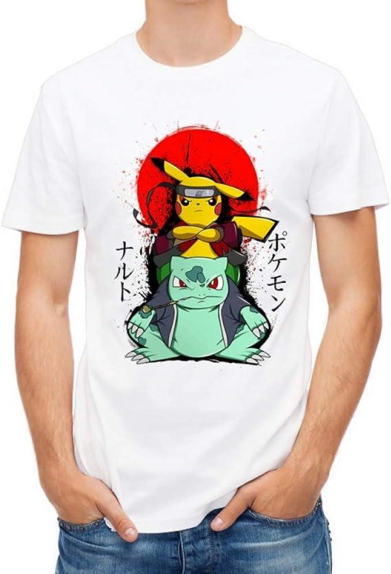 ZCYTIM Camiseta de los Hombres Moda Pikachu Naruto Impreso Camisetas Manga Corta Camiseta Hipster Manga Corta: Amazon.es: Deportes y aire libre