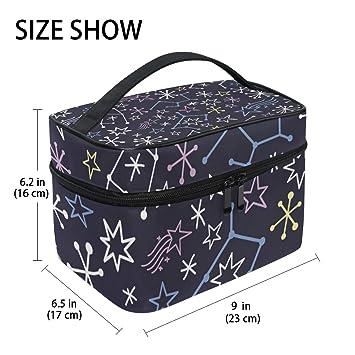 Amazon.com: Estrellas diseño grande bolsa de aseo colgante ...