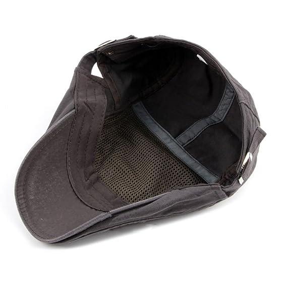 00f1dc02b Zhhlaixing Unisex Adjustable Spring Summer Driving Hat Cotton Ivy Cap  Cabbie Flat Cap Berets CQ0662  Amazon.de  Bekleidung