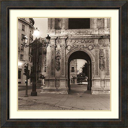 Alan Blaustein Plaza - Framed Art Print 'Plaza de San Francisco' by Alan Blaustein