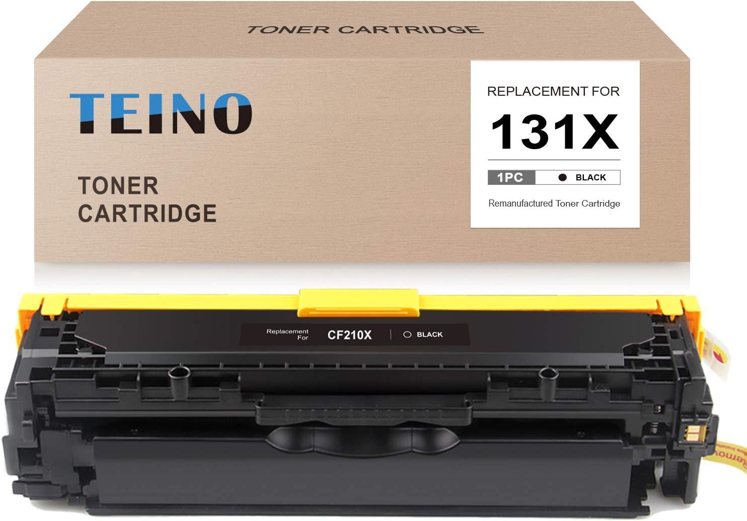 TEINO Remanufactured Toner Cartridge Replacement for HP 131X CF210X 131A CF210A use with HP Laserjet Pro 200 Color MFP M276nw MFP M276n M251nw M251n (Black, 1-Pack)