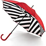 Lulu Guinness Walking Umbrella Bloomsbury 2 Diagonal Lines Ltd Edition