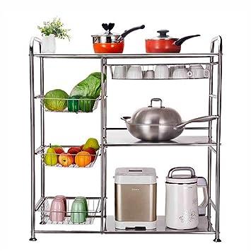 HWF Estantes y soportes para ollas y sartenes Rack De Cocina De 3 Niveles, Estante