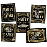 musykrafties Roaring 20's Poster Photo Booth Props Sign 16x12 5-Pack