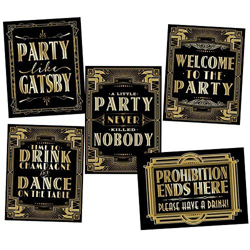 musykrafties Roaring 20's Poster Photo Booth Props Sign 16x12 -
