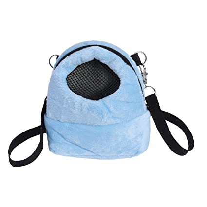 Amazon.com : UEETEK Pet Carrier Bag Hamster Portable Breathable Outgoing Bag for Small Pets Size S (Blue) : Pet Supplies