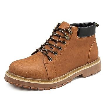 YAJIE-boots, Botines para Hombre, botín de Trabajo clásico y Casual con Cordones