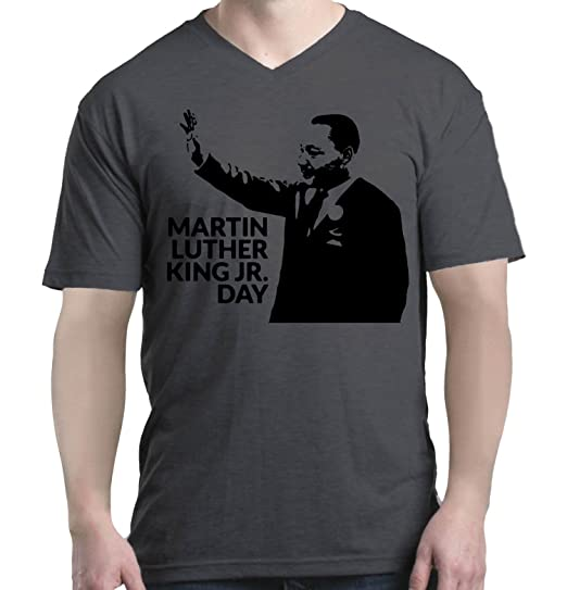 Amazon Com Shop4ever Martin Luther King Jr Day Men S V Neck T