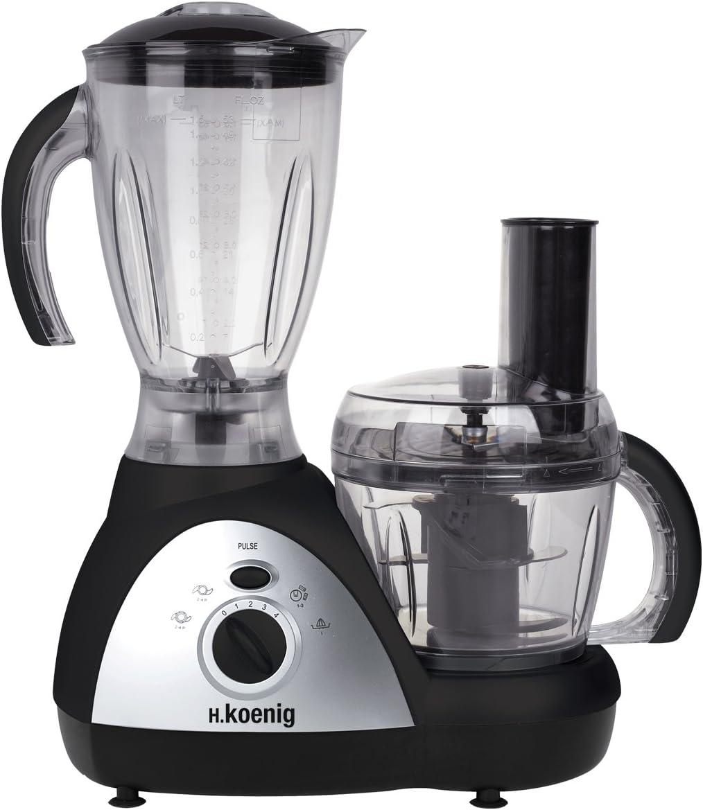 H.Koenig Genie 6-MX 16 Procesador de alimentos multifunción, 500 W ...