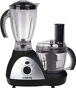 H.Koenig Genie 6-MX 16 Procesador de alimentos multifunción, 500 W, acero inoxidable, plástico, Negro y plateado: Amazon.es: Hogar