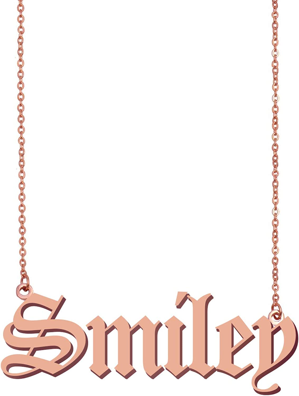 HUAN XUN Old English Peronalizedized Sofiaaa Custom Name Necklace Charm Pendant