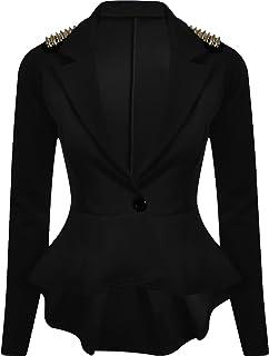 a4c1a16e6a605 Nouveaux Femmes Grande Taille transitoire de veste de blazer femmes cloutés  taille 36-52