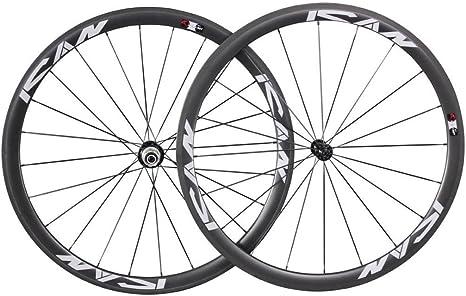 Ruedas de bicicleta de carretera de 38 mm, 20/24 agujeros, de ...