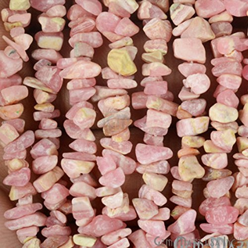 1 Strand (34inches) of Real Natural Rhodochrosite Gemstone Chips Beads. wholesale price. Prepared exclusively by GemMartUSA