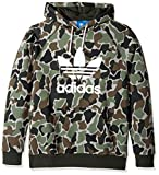 adidas Originals Men's Outerwear | Trefoil Hoodie, Black/Grey Camo, Large