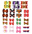 Dog Hair Bows Rubber Bands - Holiday Style Christmas & Halloween Accessories and Decorations