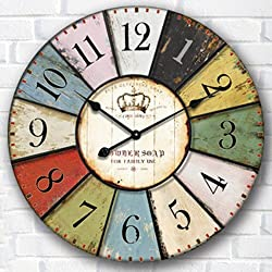 Creative clock Surface waterproof damp-proof/indoor wall clock/digital creative/diameter of the circular wall charts 30/34/40/50/60cm,B,24 inch