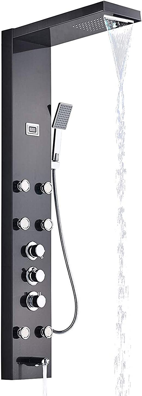 Cascada termostática Panel de ducha de lluvia Ducha de torre ...