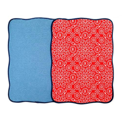 """Microfiber Dish Drying Mat 15""""x20"""" Florals Printing Best for"""