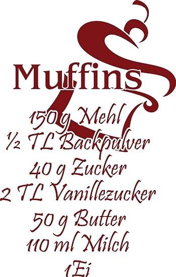 GRAZDesign Wandtatoo Esszimmer Muffins - Wandtattoo Sprüche ...