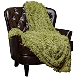 """lime green couch Chanasya Super Soft Shaggy Longfur Throw Blanket 