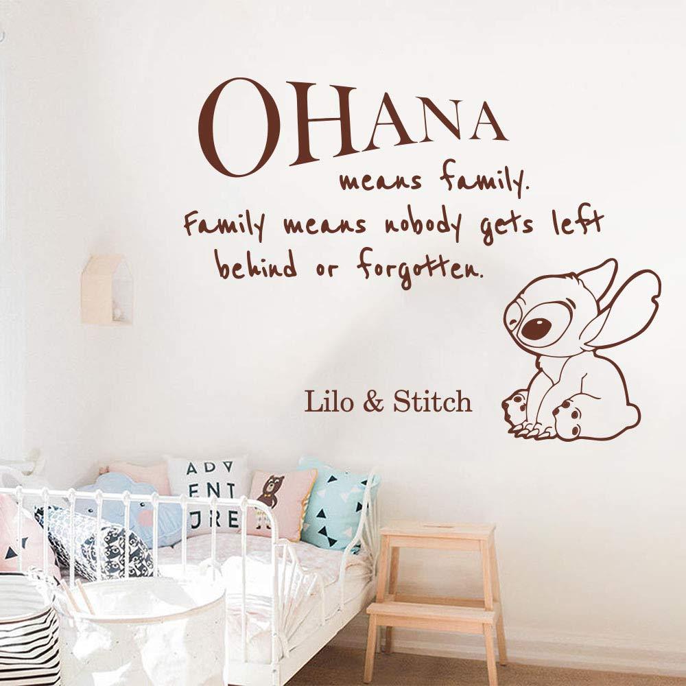 Dibujos animados Ohana Lilo y alfileres cita pegatinas de pared ...