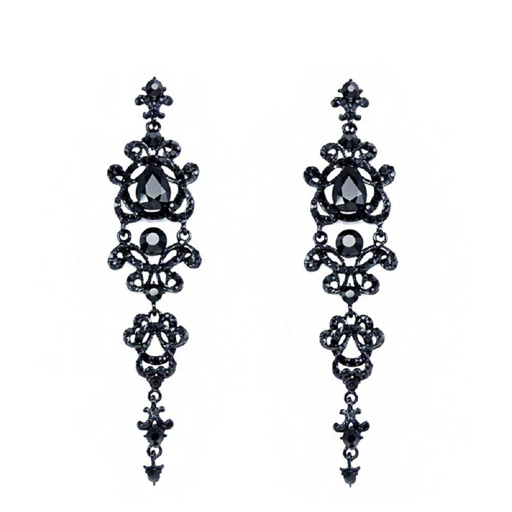 Zivyes Gatsby Earrings 1920s Accessories for Women Art Deco Flapper Jewelry