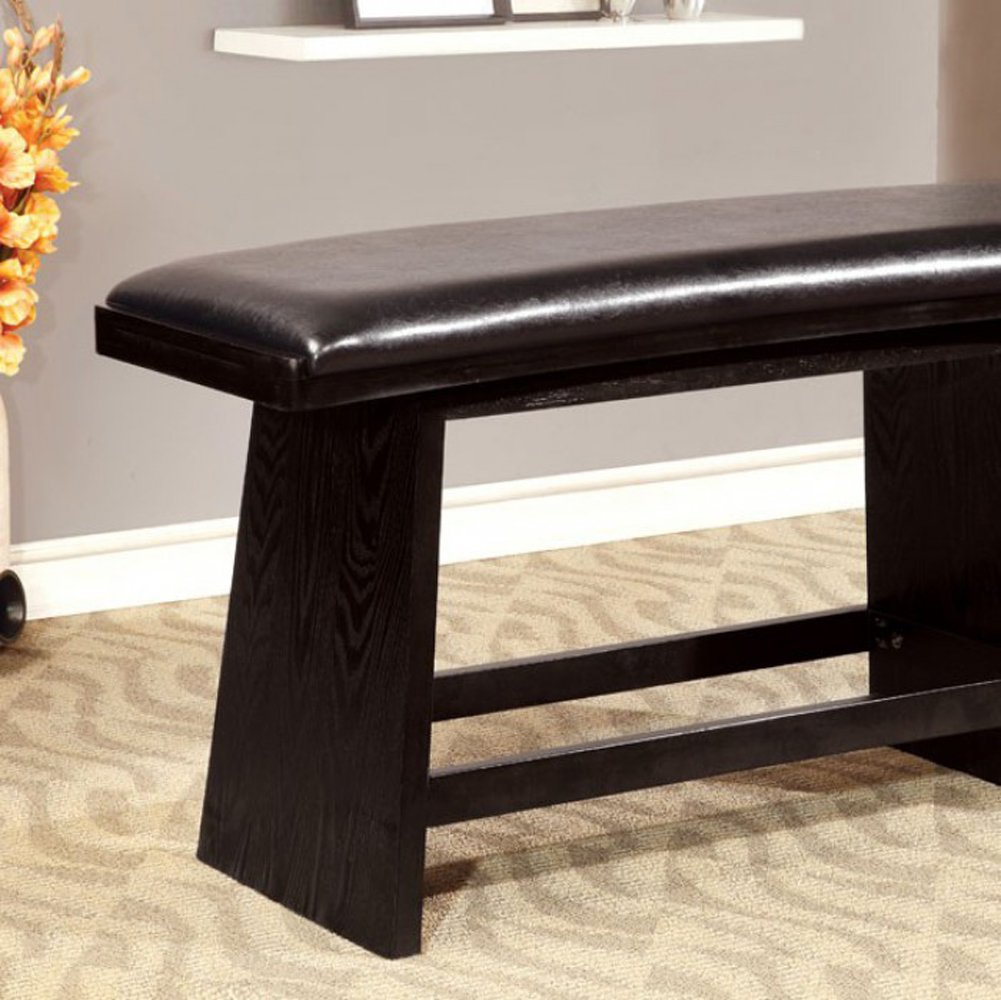 Furniture of America CM3433PBN Hurley Counter Height Bench Seating