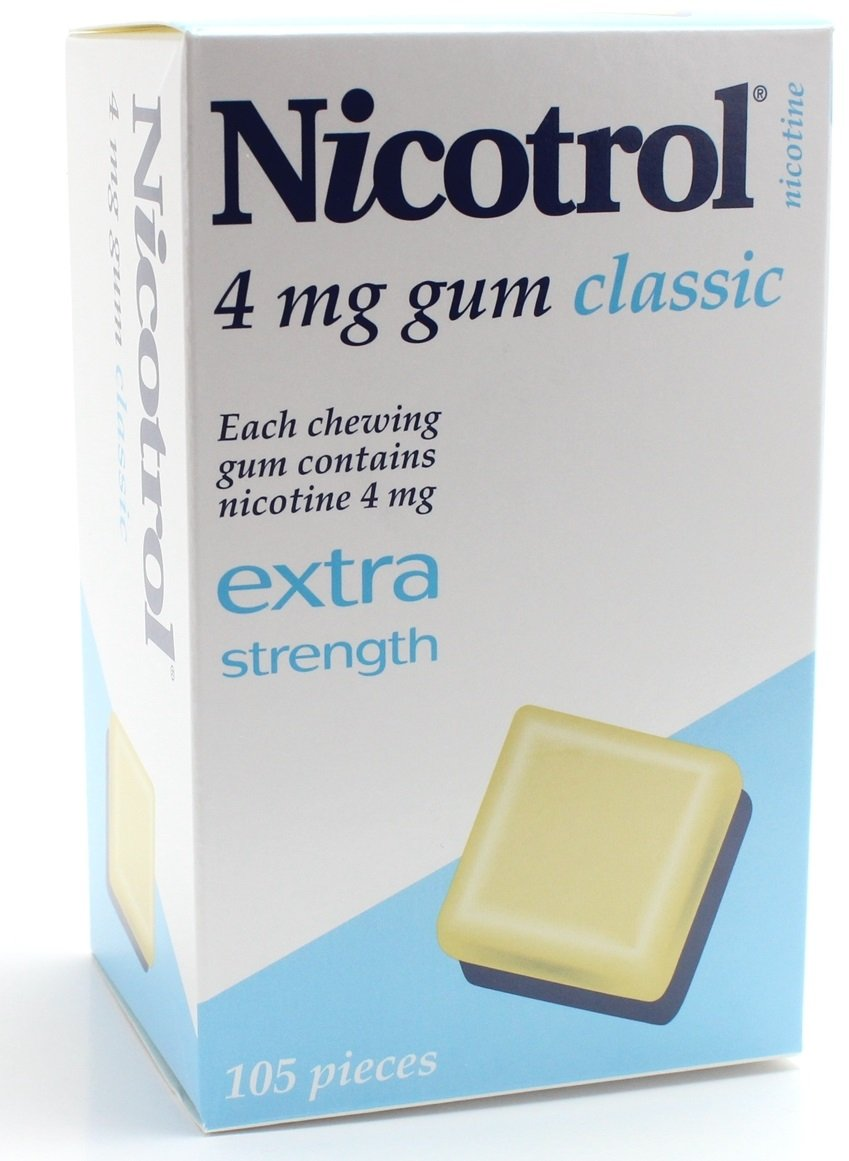 Nicotrol Nicotine Gum 4mg Classic Flavor 10 Boxes 1050 Pieces