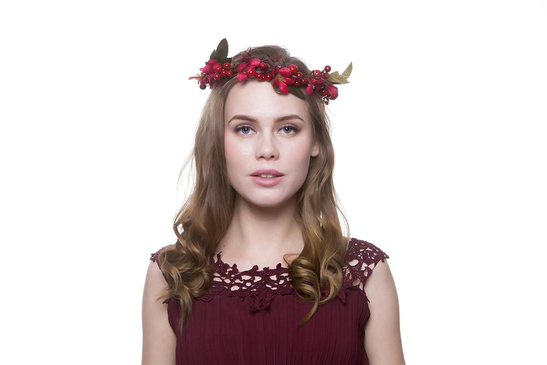 High New Women Wedding Flower Hair Garland Crown Headband Floral Wreath Hairband