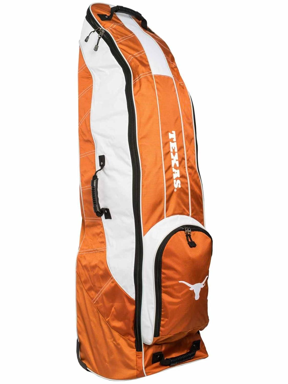 Texas LonghornsチームゴルフオレンジゴルフクラブWheeled Luggage Travel Bag B01MRK09FZ