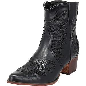 e8d2a6c55b6 Amazon.com | Cape Robbin Women Flame Pattern Cowboy Boot - Block ...