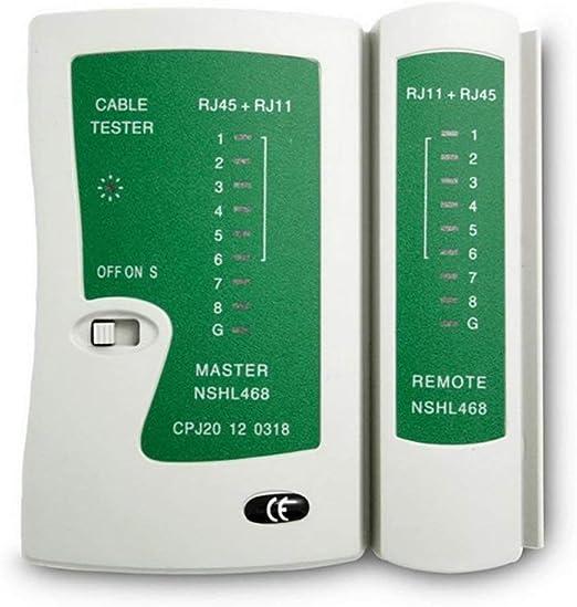 White Network Cable Tester Rj45 Rj11 Rj12 Cat5 UTP LAN Networking Tool