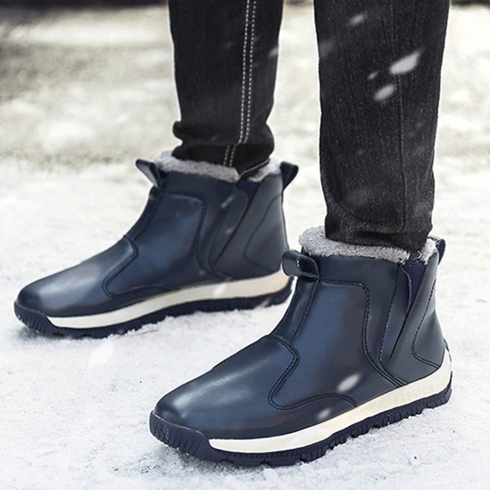XUANXAI Schneeschuhe Warmes Warmes Warmes Leder Gemütliche Stiefeletten Voll Gefüttert Wandern Wandern Schnürstiefel 038ced