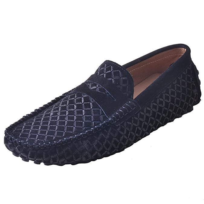 Farvaruo OBM Men's Suede Penny Loafers Classy Casual Driving Shoes Moccasin Boats Shoe