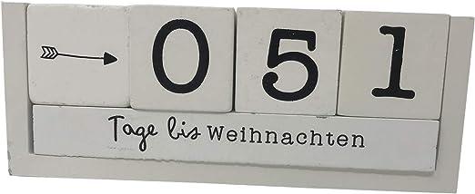 Holz Countdown Würfel 8 Sprüche Deko Holzwürfel Würfelkalender Dauerkalender