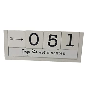 Jemidi Countdown Holz Wurfel Kalender Deko Countdowntimer Geburt