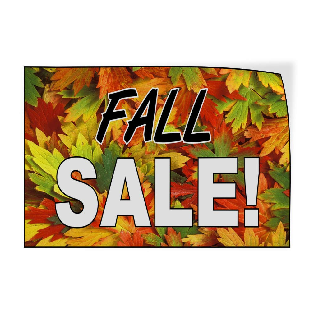 52inx34in Set of 2 Decal Sticker Multiple Sizes Fall Sale Orange Black White Business Sale Outdoor Store Sign Orange