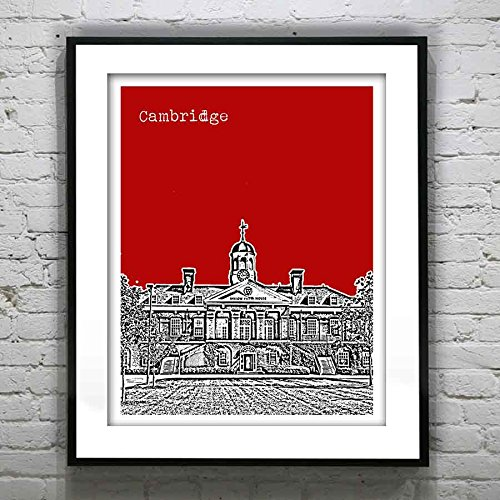 (Harvard Square Massachusetts Art Print - Harvard Square, Cambridge, MA - Version 3)