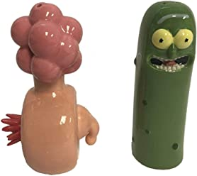 U.C.C. Distributing Rick and Morty Pickle Rick / Plumbus Salt and Pepper Shaker Figure Set