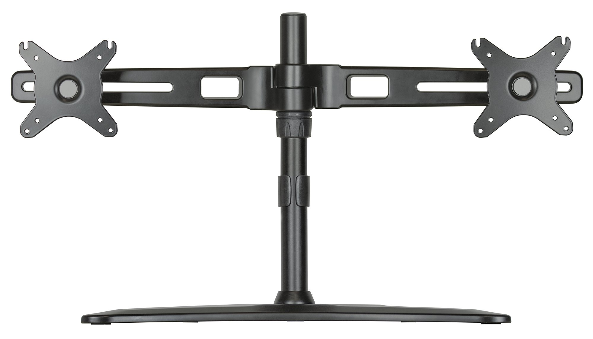 DoubleSight Dual Monitor Easy Stand, Universal Vesa Mount, Free Standing, Fully Adjustable Height, Tilt, Pivot, accomodates up to 27'' LED LCD Monitors, VESA Bracket 75mm & 100mm, (model: DS-227STN) by DoubleSight Displays