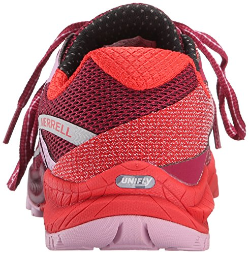 Para Asfalto De Running Mujer Merrellall Zapatillas Red Bright Charge Out WnqBAwcZ