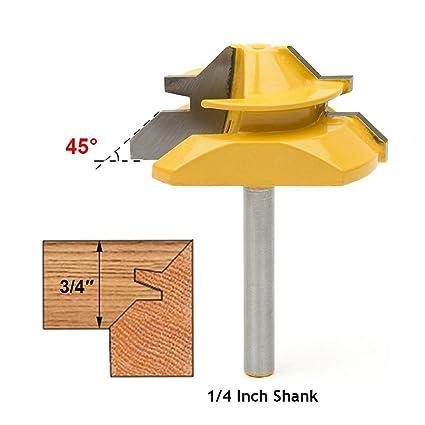Meihejia 1 4 Inch Shank 45 Degree Lock Miter Router Bit 3 4 Inch