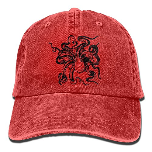tiene Dad Adjustable de Adult Gorra Washed for béisbol Drawing Vintage Octopus Unisex wSqXY6x