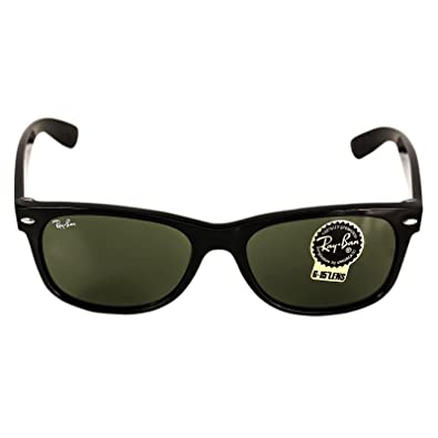 3a440acef84 Amazon.com  Ray Ban RB2132 901L NEW WAYFARER 55mm Sunglasses - Size  55--18--145  - Color  Black Frame  Crystal Green Lens   Shoes