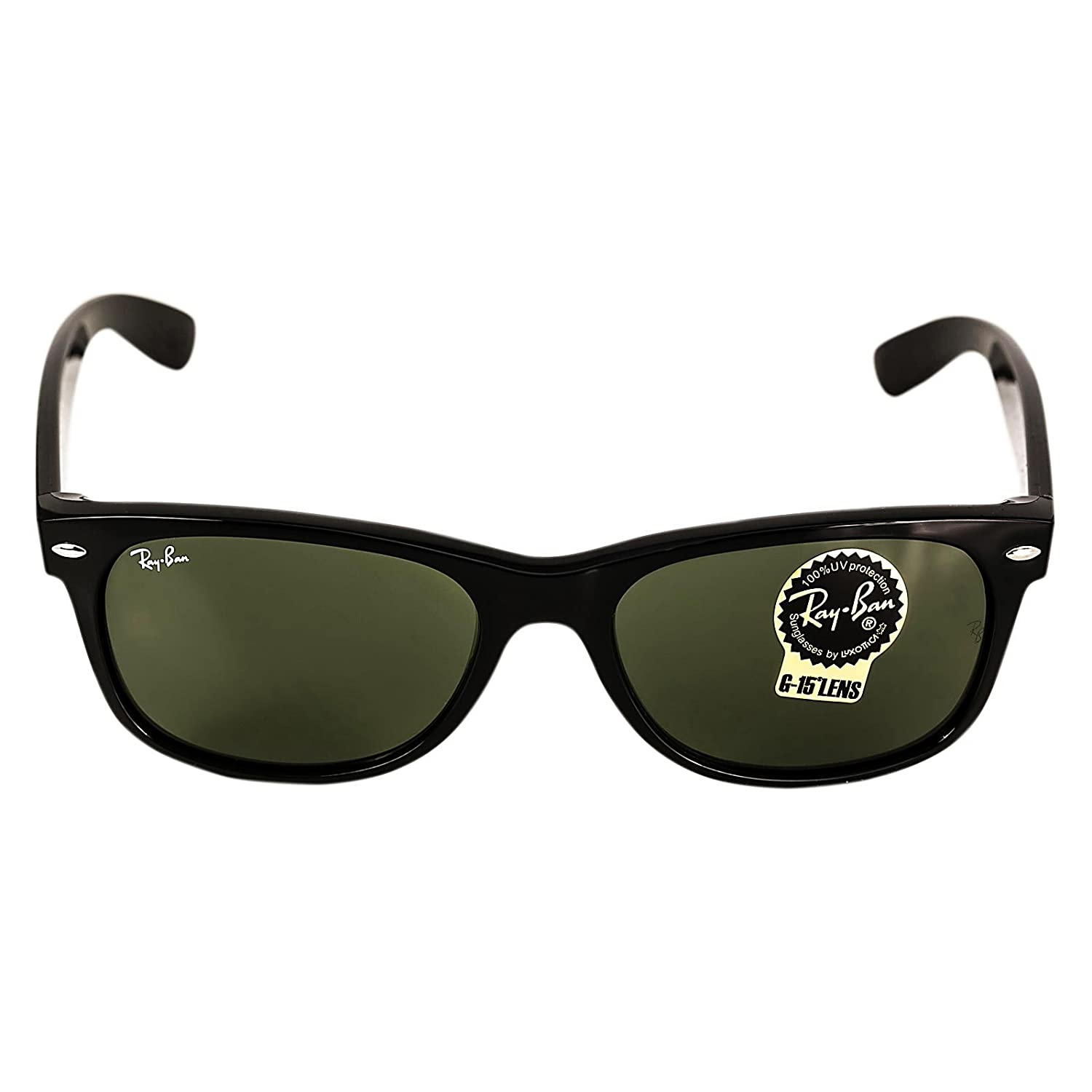 ray ban unisex rb2132 black wayfarer sunglasses  amazon: ray ban wayfarer rb2132 901l black/g 15 xlt 55mm sunglasses: shoes
