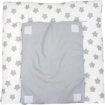 70 x 70 cm TupTam Tapis /à Langer avec 2 Housses /Éponge B/éb/é Blanc Gros Gris /étoiles
