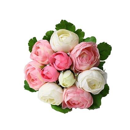 Amazon Ifashion 10pcs Of Small Tea Rose Bouquet Simulated
